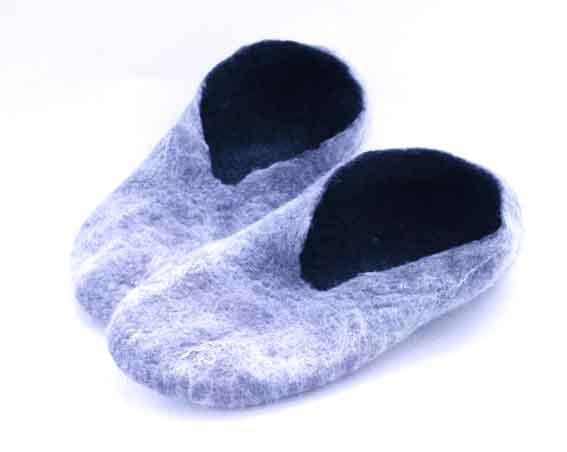 Wet felted slippers - Go Create